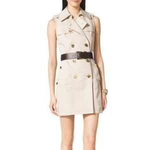 MICHAEL by Michael Kors belted trench dress